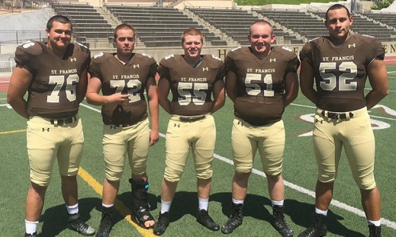 Pasadena High School St. Francis Offensive Line